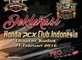 Deklrasi Honda PCX Club Indonesia Chpeter Kudus