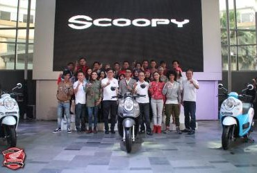 Perwakilan Komunitas di Launching All New Honda Scoopy
