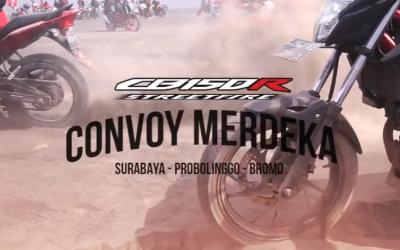 Highlights Event CB150R Convoy Merdeka Bromo
