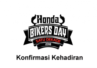 Tutorial Konfirmasi Kehadiran di Honda Bikers Day 2018