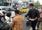 Baksos pembagian masker @ komunitas Motor Honda Banjarmasin