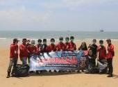 Honda Bikers Day (HBD) 2019 Regional Kalimantan - CSR pembersihan Pantai Melawai dan Donor Darah