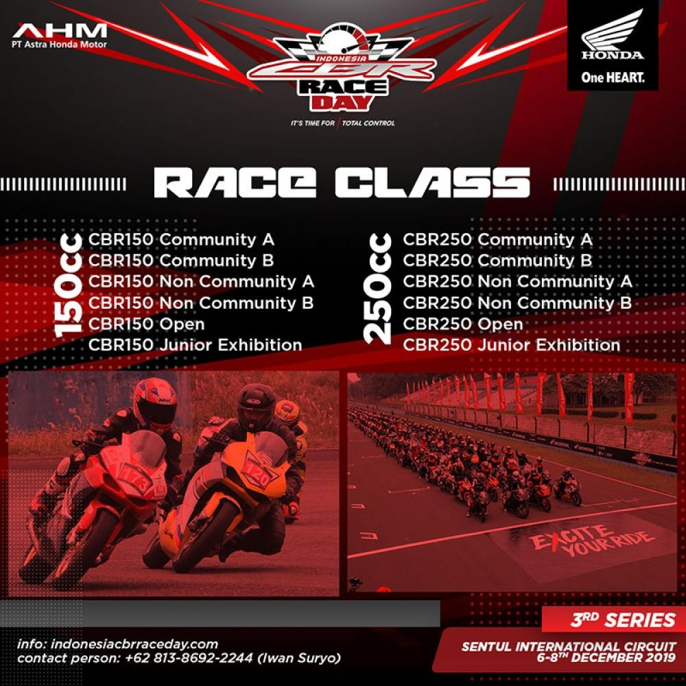 Banner CBR Raceday