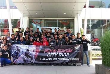 PCX & ADV 150 City Ride Serentak Di 4 Kota Di Jawa Timur