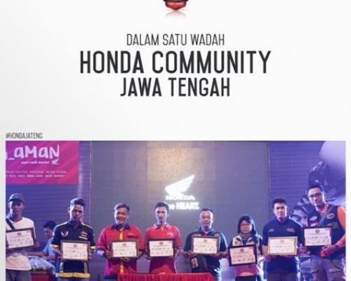 Profil Paguyuban Honda Community Jawa Tengah, Komunitas Motor Punya Kegiatan seru dan Bermanfaat