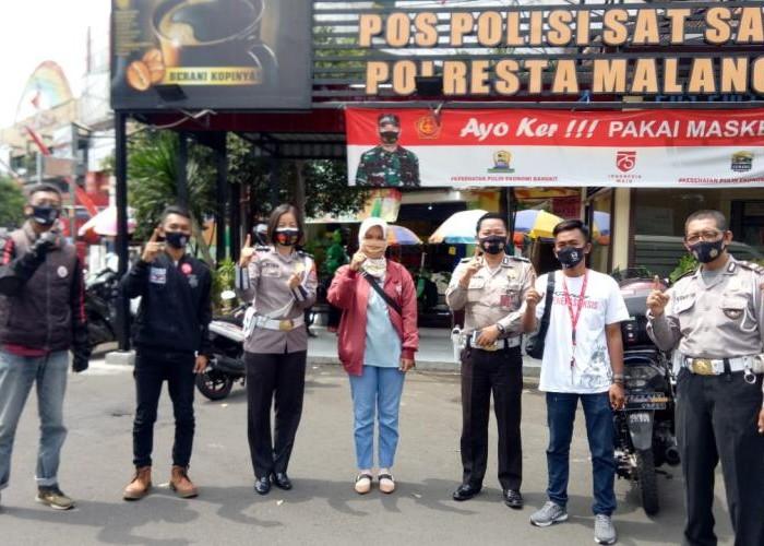 Honda Beat Club (HBC) Malang Ikut Serta Apel Gelar Pembagian Masker Kota Malang