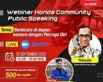 Bekali ilmu Percaya Diri di depan kamera, MPM Honda Jatim gelar Honda Community Public Speaking