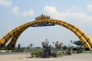 Sunmori Di Lampung, Sambangi Tugu Bambu Pringsewu