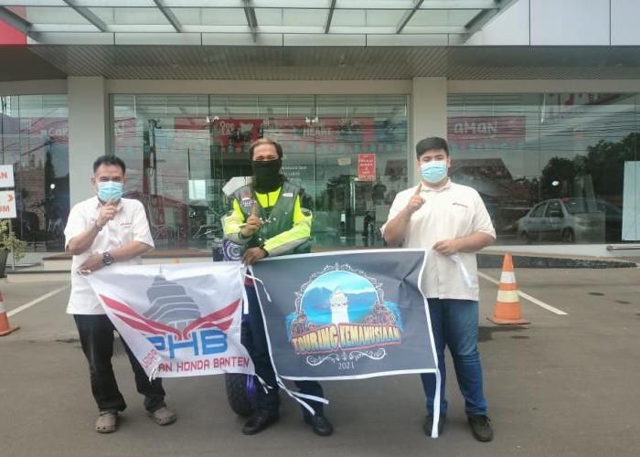 Arif Ketua Paguyban Honda Banten Melakukan Perjalanan Ke Lombok Demi Aksi Kemanuasiaan