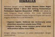HPCI Jatim Dukung Himbauan HPCI Pusat Selama PPKM