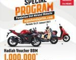 Special Program MPM Honda Jatim, Beli motor bonus Voucher BBM rek