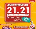 AHASS Spesial Day 21.21,  Cek Motot Gratis Dan Diskon Jasa Servis.