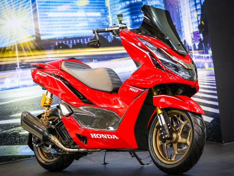 All New Honda PCX Custom Bike - Advance Sporty