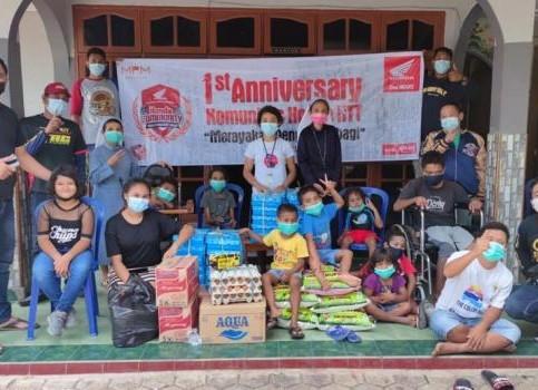 Rayakan Hari Jadi Ke-1, Honda Community NTT Bakti Sosial ke Panti Asuhan