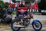 Brader Aldy Tri Komphacs, Sah Naik Haji Pakai Motor Lawas